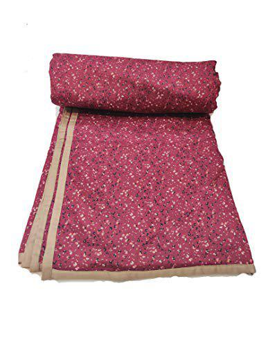 Ans Single Bed A.c.top Sheet Flannel Cotton Dohar/Duvet, Single Bed Reversible Soft Fabric AC Quilt (57x88 inches)
