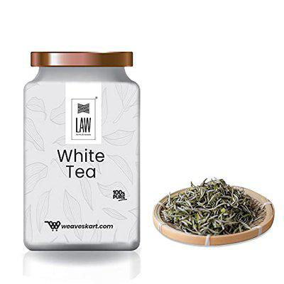 looms & weaves - White Tea Leaves 50 gm (Rich in Anti-oxidants & Helps in Weight Loss)