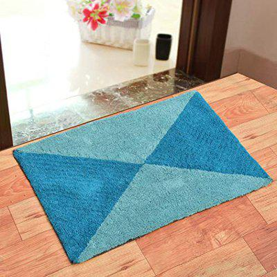 Dehati StorePure Cotton Anti Skid Water Obsorbing Bath Mat - 50 cm x 80 cm, Multi Color