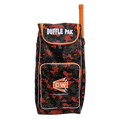 CW Duffle Pak Sporty Backpack Cricket Bag Kit with Additional Bat Compartments Professional Cricket Bag Pack Large Cricket Kit Bag Adjustable Shoulder Straps & Zip Closer