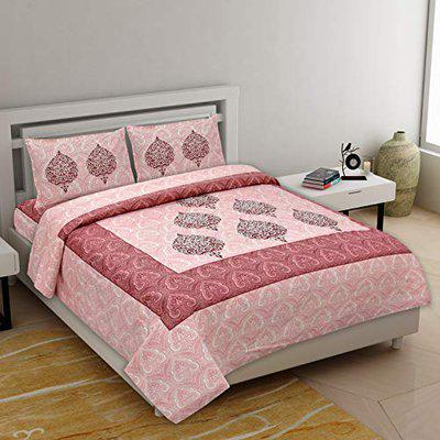 Healing Crystals India Luxury 100% Cotton Printed Double Bedsheet 220 TC King Size with 2 Pillow Covers. (Alexaa 3)