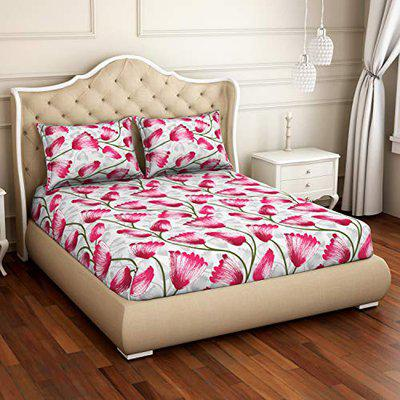 CORE Designed by SPACES Seasons Best Floral Pink 1 Double Bed Sheet with 2 Pillow Cover (1047157)