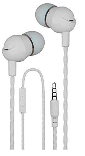 MobiGenie High Bass Headphones with mic Microphone and Controls - (Ceramic White)