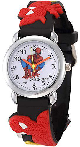 Mad Max Creation Anologue White Dial Spiderman Watch for Boys,Girls & Kids