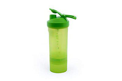 ORENAME Ultra BPA Free Gym Sippers and Shakers Bottle Protein Shake Sports Sipper Water Bottle with Supplement Storage Detachable Compartments for Men and Women (Green)
