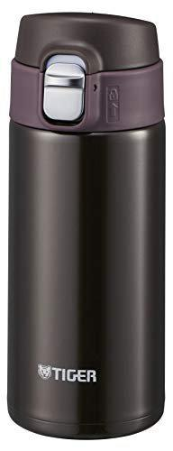 Tiger Stainless Steel Flask Bottle, Vacuum Insulated Double Wall, Chocolate Brown, 360 ml, MMJ-A361