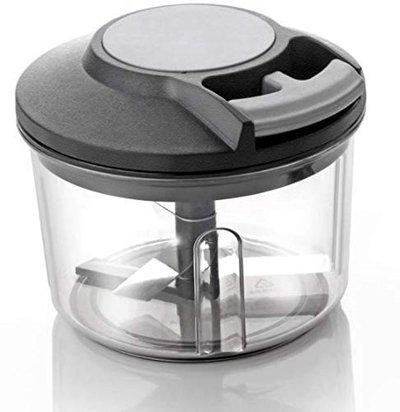MB Shiv 650ml Handy Plastic Chopper with Pull Cord Technology and 3 Stainless Steel Blades Eco-Friendly Design Vegetable & Fruit Chopper (Multicolour)