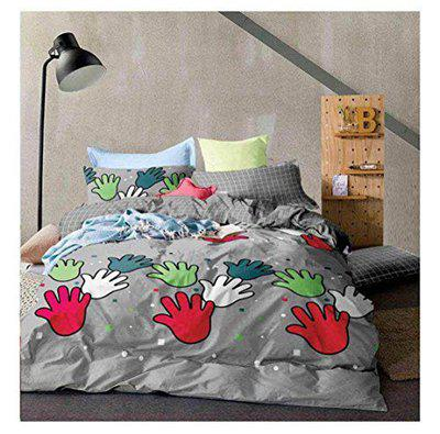 singhs Villas Decor Presents Super Soft Hand Printed Double Bedsheet with 2 Matching Pillow Covers
