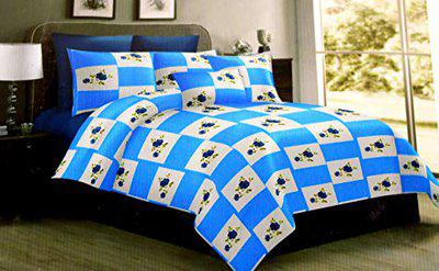 Bellagio Pure Cotton Double Bedsheet Super Soft Bed Sheet with Two Pillow Covers(King Size, Multicolor)