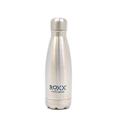 ROXX Stainless Steel Super Cola Hot and Cold 350ml Water Bottle, Silver (350 ML)