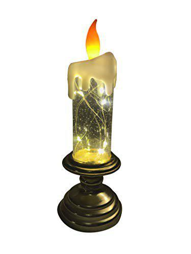 Auslese Plastic Water Swirling Glitter Candle With Usb Cable, 1 Pc
