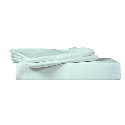 Just Linen 400 TC 100% Egyptian Cotton Sateen, Solid King Size Flat Bed Sheet with Pillow Covers