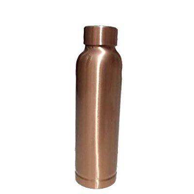 DEV,Lacquer Coated (DEV) PRIMIUM Plain 950 ML 100 Pure Copper Water Bottle Leak-Proof Cap with LAB Tested Certificate- an AYURVEDIC Copper Vessel-Drink More Water