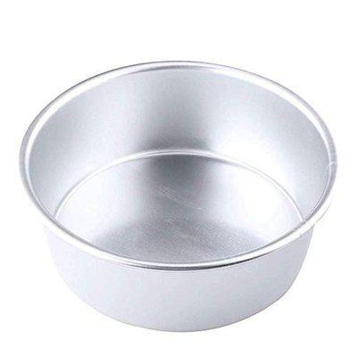 SKARS Aluminium Round Cake Baking Moulds   Cake Pan   Cake Tins for 500 Grams (6.5 Inch) for Oven