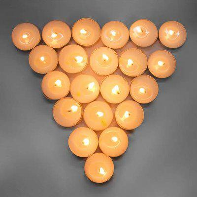EON Wax smokeless tealight Candle Set of 50, Multicolor Also Available.