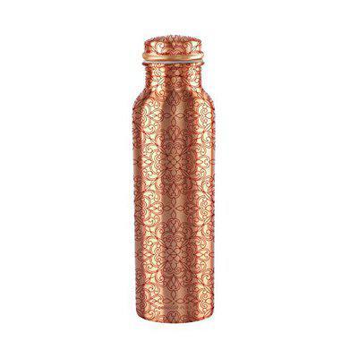 Cello Cop- Pura Diva Floral Copper Bottle, 1000ml, Copper
