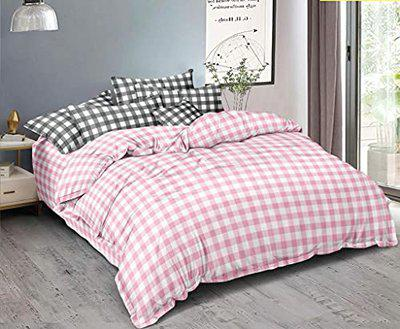 Ab Home decor 160TC Glace Cotton Duvet/Razai/Quilt Cover for Double Bed Size with Zipper (Dohars) 90x100 inch- Pink