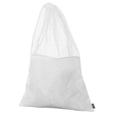 IKEA - 2 Pieces IKEA SNAFS Laundry Bag, White, 47x65 cm (18 1/2x25 5/8) with 4 Pieces KALAS Spoon, Mixed Colours