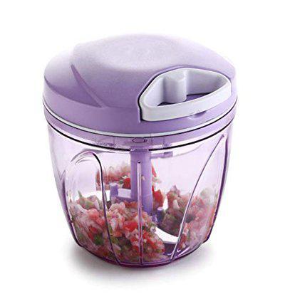 Vittamix Plastic Handy Vegetable Chopper, Cutter, Mixer Set (Purple, 900 ML)