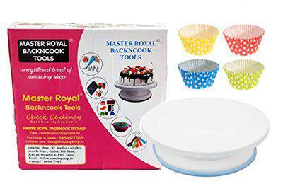 MASTER ROYAL BACKNCOOK TOOLS 1 Cake Turntable 50 pcs Baking Cup 10cm Tool Set