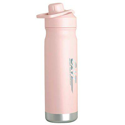 US1984 Thermos Bottle, with Wide Mouth Lid, Double-Wall Thermos Flask, Vacuum Insulated Stainless Steel   Retains Hot and Cold Temperatures 700ml (Light Pink)