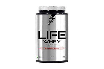 Divine Nutrition By Sahil Khan-Life Whey Protein Strawberry and Banana Flavour (1 kg)