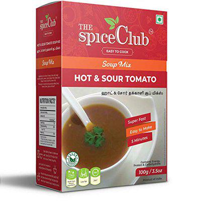 The Spice Club Hot & Sour Tomato Soup Mix 100g - Delicious, Low Fat, Super Fast, Make in just 5 minutes