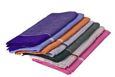 looms & weaves - 2 Premium Handwoven Colour Bath Towels (50 inch x 28 inch) - Assorted. Any Three Colours as per Availability