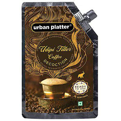 Urban Platter Udipi Filter Coffee Decoction (Concentrate), 500ml (Ready-to-Drink Instant Filter Coffee Extract | Makes 25 Cups)