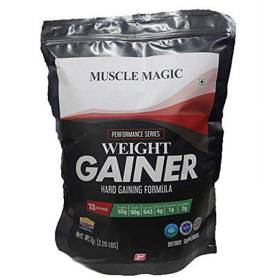 SNT Muscle Magic Weight Gainer & Whey Protein Isolate Powder, 55g Protein, 90g Carb, 643 Calories, 4g BCAA, 2g Creatine, 1g Glutamine (1 Kg / 2.2 Lbs, Chocolate)