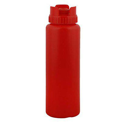 Yellow Bee BPA Free Plastic Red Fifo Squeeze Bottle, 360 ml (Pack of 1)