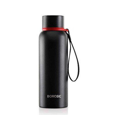 nawab traders Stainless Steel Hydra Trek - Vacuum Insulated Flask Water bottle, Black, 700ML