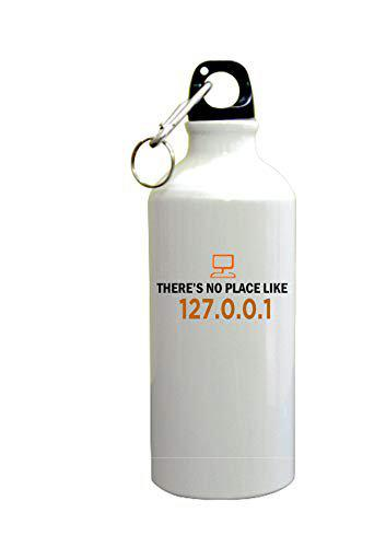 PRINT BHARAT Gyming White Sipper Bottle with Code No Place Design Printed Sipper Bottle (600ml,Aluminium)