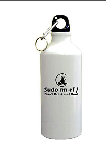 PRINT BHARAT Gyming White Sipper Bottle with Code Sudo Design Printed Sipper Bottle (600ml,Aluminium)