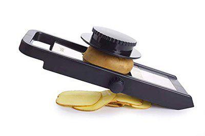 VM Kitchen Adjustable Potato Slicer for Chips Vegetable & Fruit Cutter Slicer (Black)