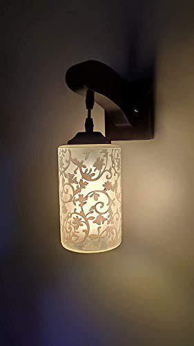 Kajal Wall lamp/Wall Light Decorative for Living Room Bedroom and All Home Dcor Wood Surface Mounted Classic Sconce with New Styles Antique Lamp Shade with Unique Fitting and All Fixture Complete Set