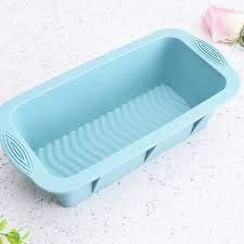 Taj 7 x 4 x 4 Inches Silicone Bread (Loaf) Mould, Fruit Cake Bakeware Pan Mould, Multicolor