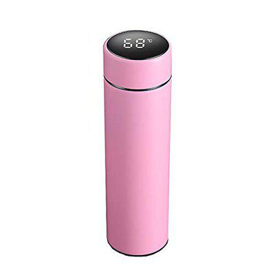 Infinity Electric Smart Vacuum Insulated Water Bottle with LED Temperature Display   304 Stainless Steel   Perfect for Hot and Cold Drinks   (Black, 500ml) (Pink)