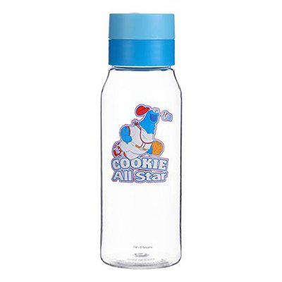 MINISO Sesame Street Cute Plastic Water Bottle for Kids,450 ml,Blue