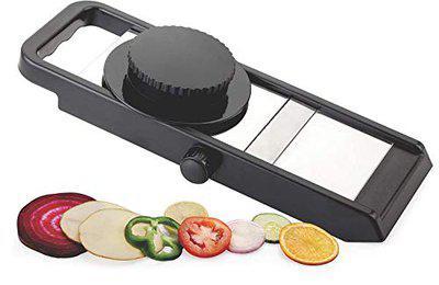Fab Signal Adjustable Plastic Slicer, 1-Piece, Black/Silver