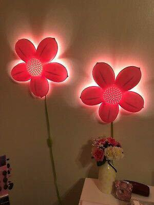 IKEA Wall lamp, SMILA BLOMMA Wall lamp, Light Pink