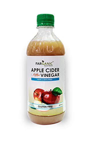 FARGANIC Apple Cider with Mother of Vinegar Raw & Unfiltered Unpasteurized Juice (Pack of 1 (500 ml))