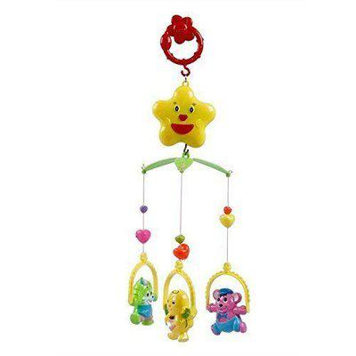 BIRONZA Lovely Colourful Musical Hanging Rattle Toys with Hanging Cartoons for Toddlers/Babies/Infants/Newborns (Pack of 1) (PCS 5) (Multi Color)