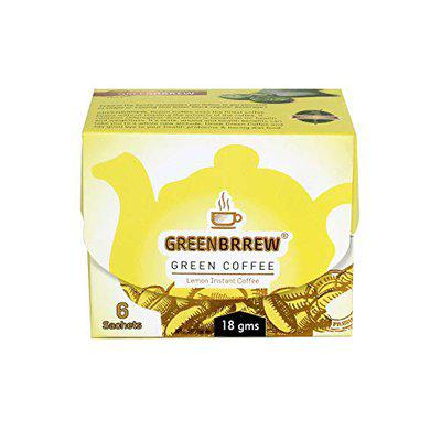 Greenbrrew Instant Green Coffee (Lemon, 6 Sachets) 18g - Easy to Use