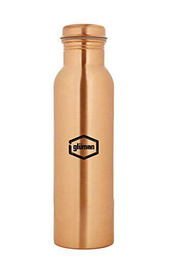 Gluman Tamvra Natura Copper Classy Design Water Bottle, Advanced Leak Proof Protection, and Joint Less, Ayurveda and Yoga Health Benefits. (900ml) (SWGM0211)