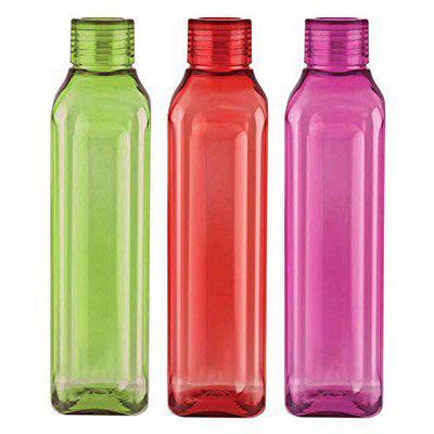 Skyzone Unbreakable Plastic Water Bottle 1000ml (Multicolor) (3pcs)