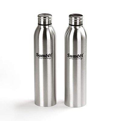 Sumeet Sleek Stainless-Steel Leak-Proof Water Bottle / Fridge Bottle - 1000ML - (Set of 2)