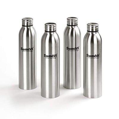 Sumeet Sleek Stainless-Steel Leak-Proof Water Bottle / Fridge Bottle - 1000ML - (Set of 4)