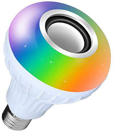 Rewy BUL78 Portable Led Bulb with Bluetooth Speaker Music Light Bulb + RGB Light Ball | Remote Controller Compatible with All Devices (Multi Color)