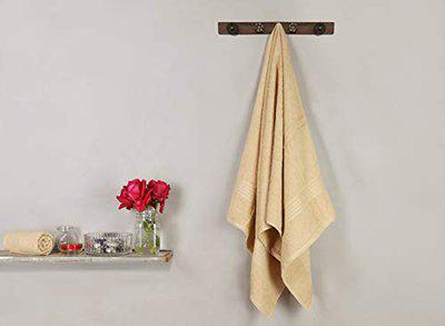 Bombay Dyeing Bath Towels Full Size for Men & Women 450 GSM (Butter Cup)